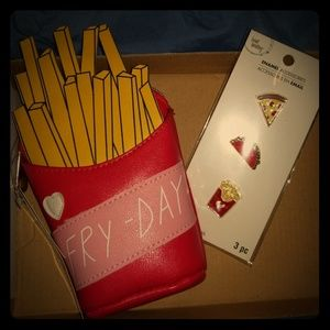 Handbags - FRY-DAY Coin purse & 3 Enamal Pins